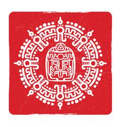 Grunge american aztec mayan culture symbol design vector