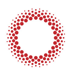 Halftone circle frame dots vector