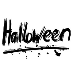 Halloween hand lettering Handmade calligraphy vector image