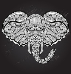 hand drawn decorative elephant vector image