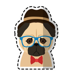 hipster animal icon image vector image