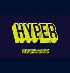 Hyper font 3d bold vector