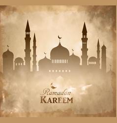 Islamic mosque haram and aqsa silhouette vector