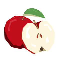 Isolated pair of apples vector