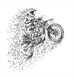 motocross particle vector image