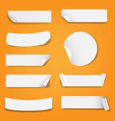paper label isolated orange background vector image