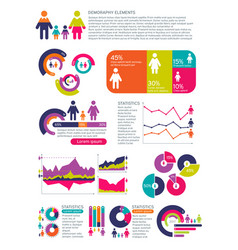 People population infographics with vector