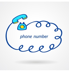 Phone number icons element sketch color vector