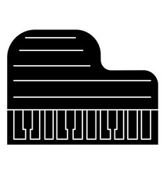 piano grand icon black sign vector image