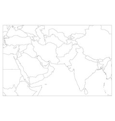 political map of south asia and middle east vector image vector image