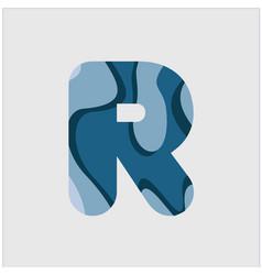 R water font template design vector