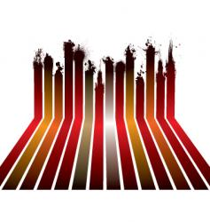 red ribbon splat vector image