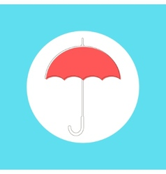 red umbrella in stroke-style vector image