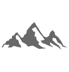 Rock mountain silhouette vector