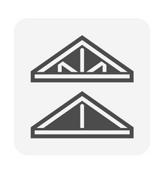 Roof truss structure or frame work for house vector