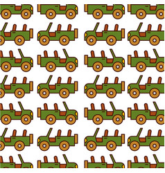 Safari jeep pattern background vector