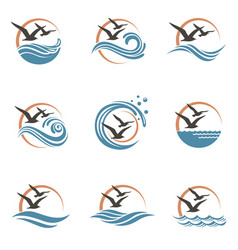 seagull logo design vector image