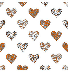 seamless pattern background with heart vector image