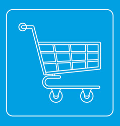 shopping cart icon outline vector image