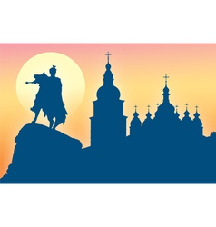 Silhouette of St Sophia Cathedral vector
