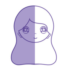 Silhouette woman face with expression and vector