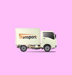 small transport truck vector image