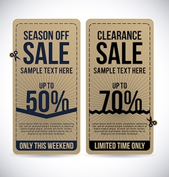 Store ad over gray background vector
