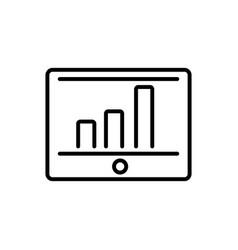 tablet computer report chart business cash money vector image