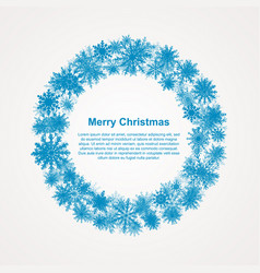 the festive wreath snowflakes new year christmas vector image