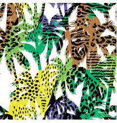 Trendy seamless exotic pattern with palm and vector