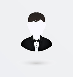 User icon of man in business suit isolated vector