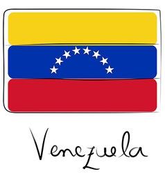 Venezuela flag doodle vector image