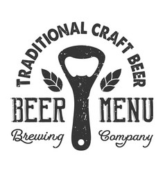 vintage craft beer logo concept vector image