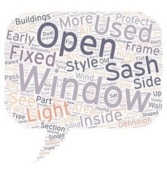Window Styles text background wordcloud concept vector