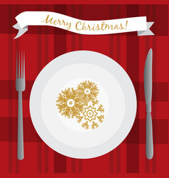 with white plate on the table vector image