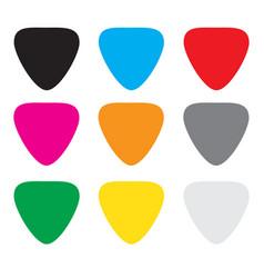 colorful guitar picks vector image