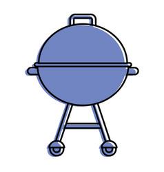 grill equipment wheel steel icon vector image
