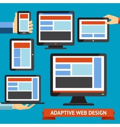 responsive and adaptive design vector image