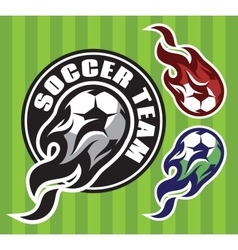 set of multi-colored patterns for team sports with vector image vector image