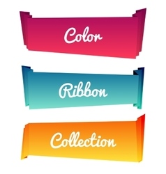 Colorful paper roll long collections design on vector image vector image