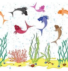 fish seam vector image