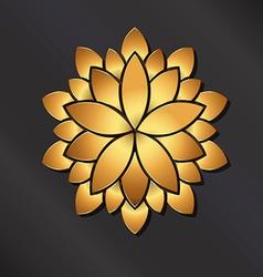 Flower golden mandala vector image vector image