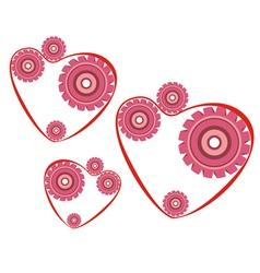 heart mechanism vector image vector image