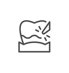 plague removal line icon vector image