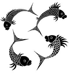 Fish sketch design vector image