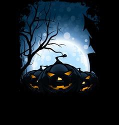 Grungy Halloween Card vector image vector image