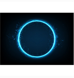 circle technology abstract background vector image