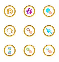 cursor icons set cartoon style vector image