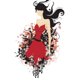 fashion floral grunge vector image