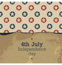 independence day vintage poster template vector image